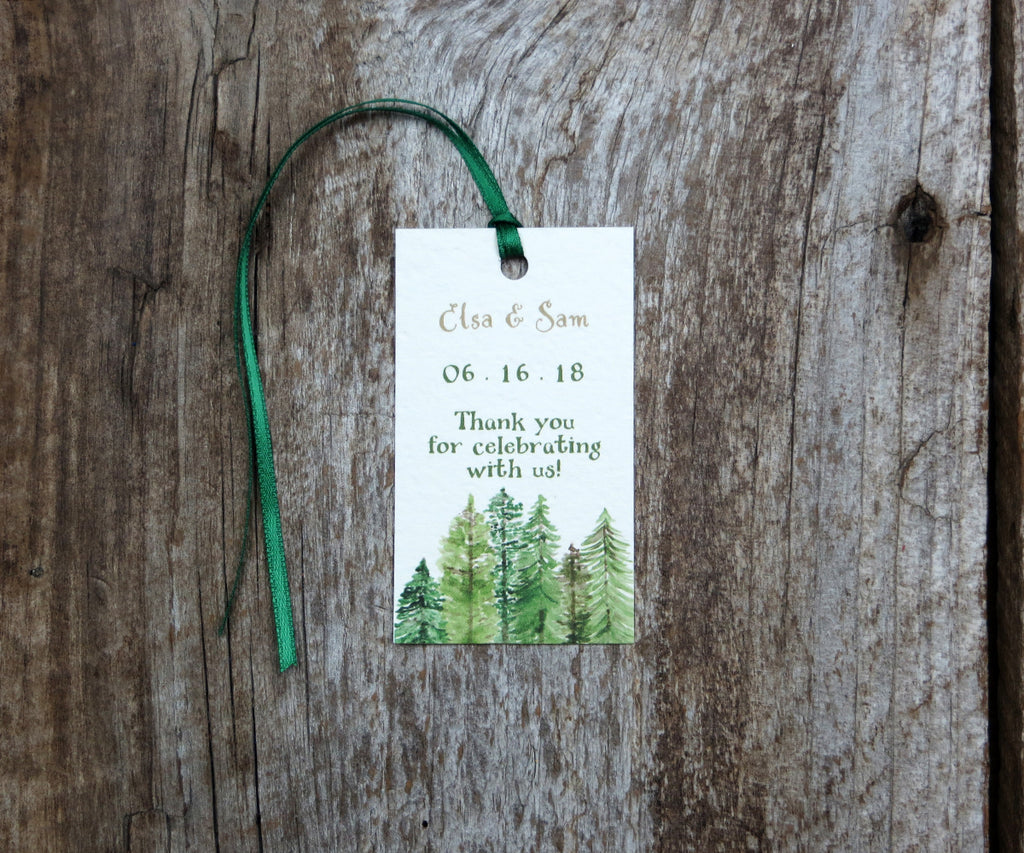 Forest Pines Favor Tags