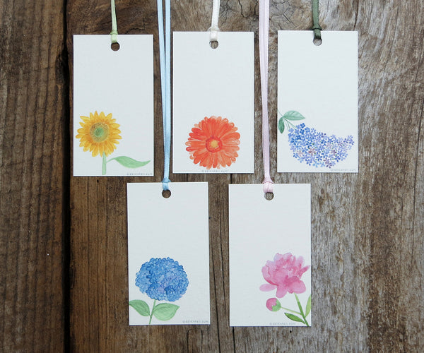 Favorite Flowers Gift Tags
