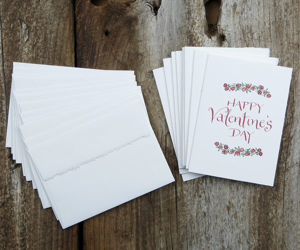 Floral Border Valentine Notes