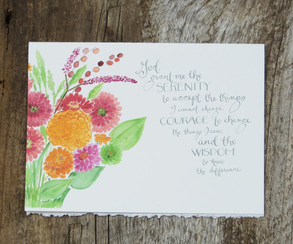 Floral Serenity Recovery Card