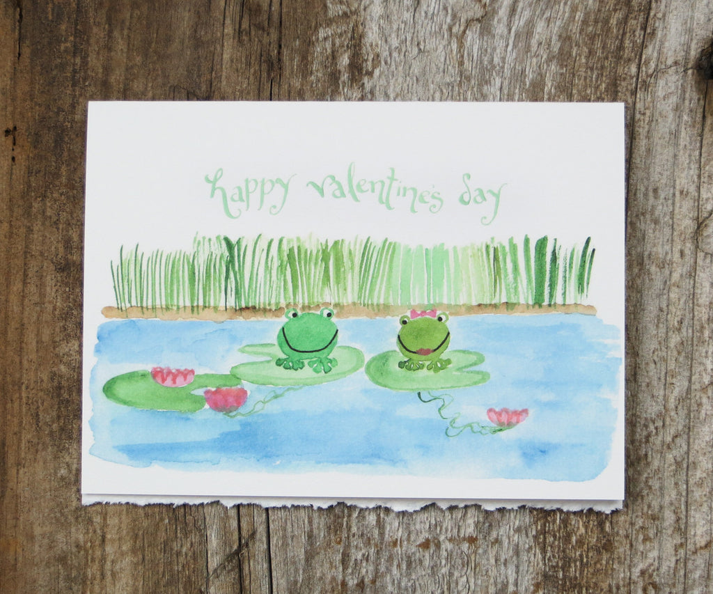 Frogs Valentines Card