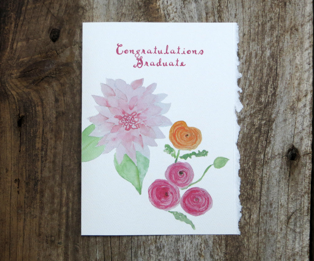 Graduation Flowers Card