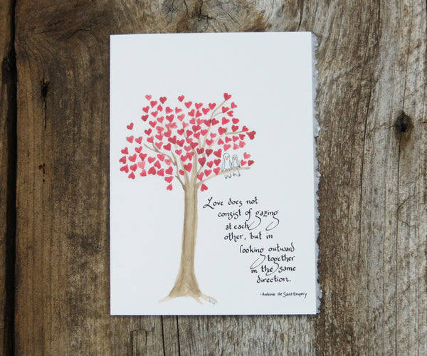 Heart Tree Valentines Card