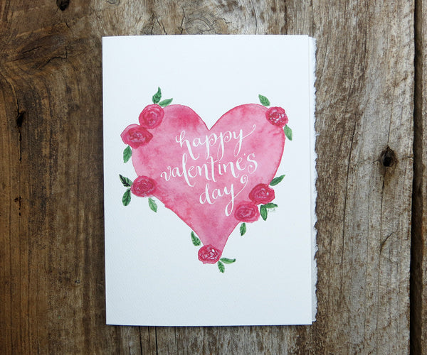 Heart with Roses Valentine's Card