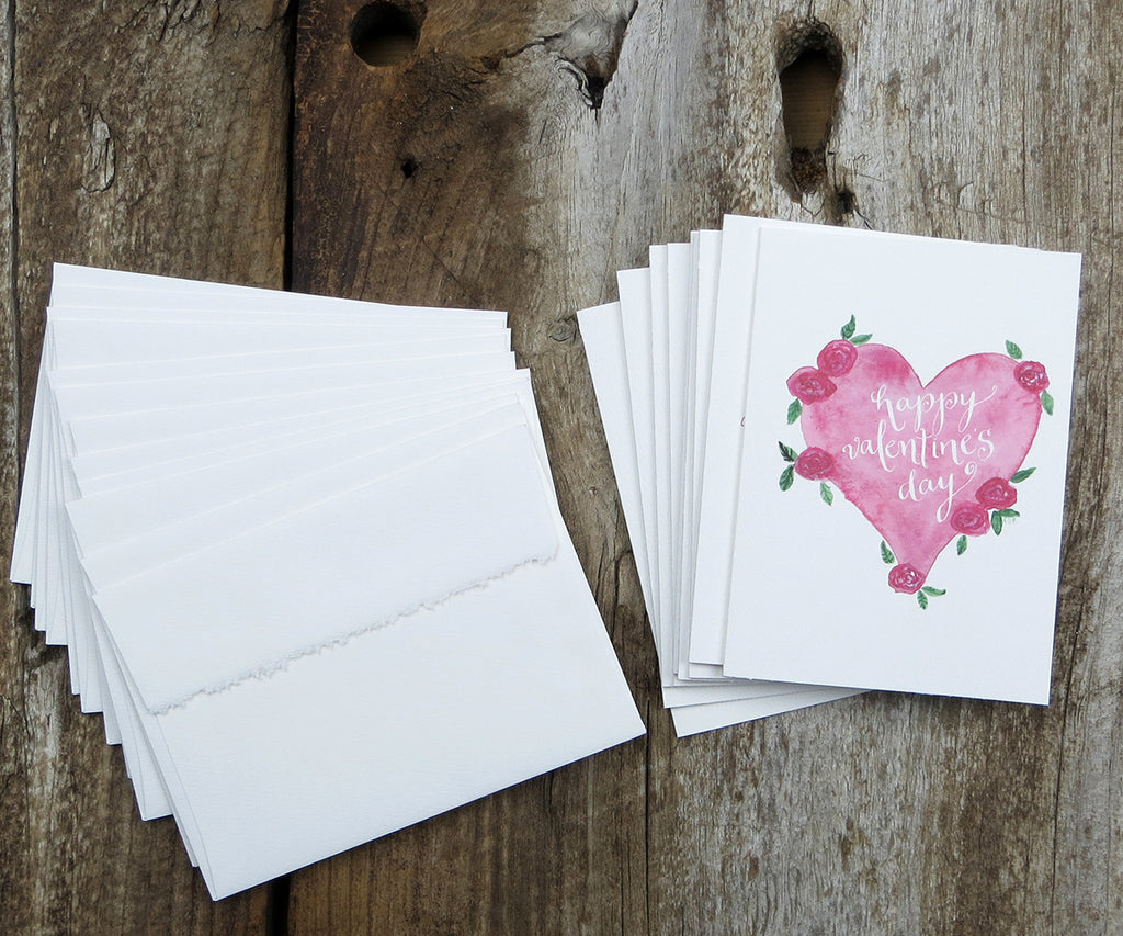 Heart with Roses Valentine Notes
