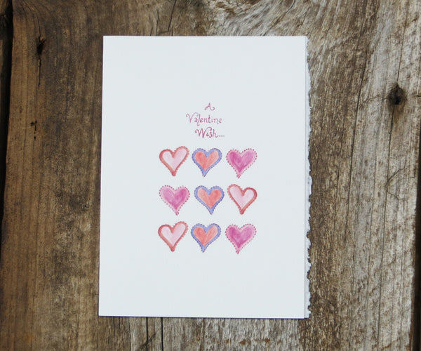 Hearts Valentines Card