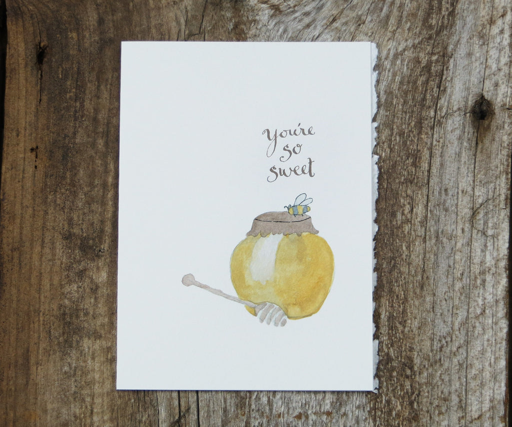 Honey Jar Thank You Card