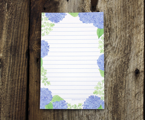Brilliant Blue Hydrangea Notepad