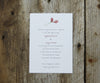 Red Floral Wedding Invitation