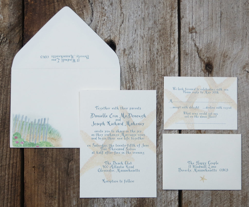 Starfish Wedding Invitation
