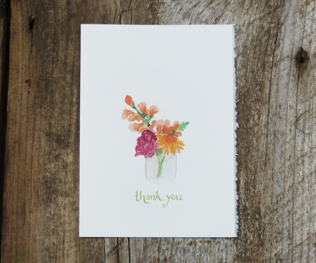 Jar of Blossoms Thank You Card