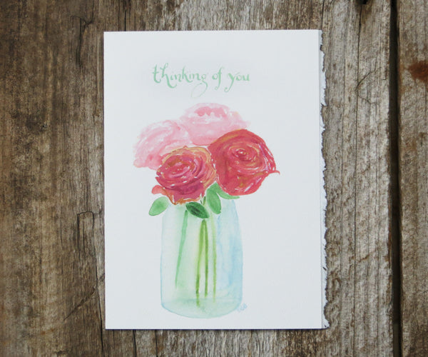 Jar of Roses Card