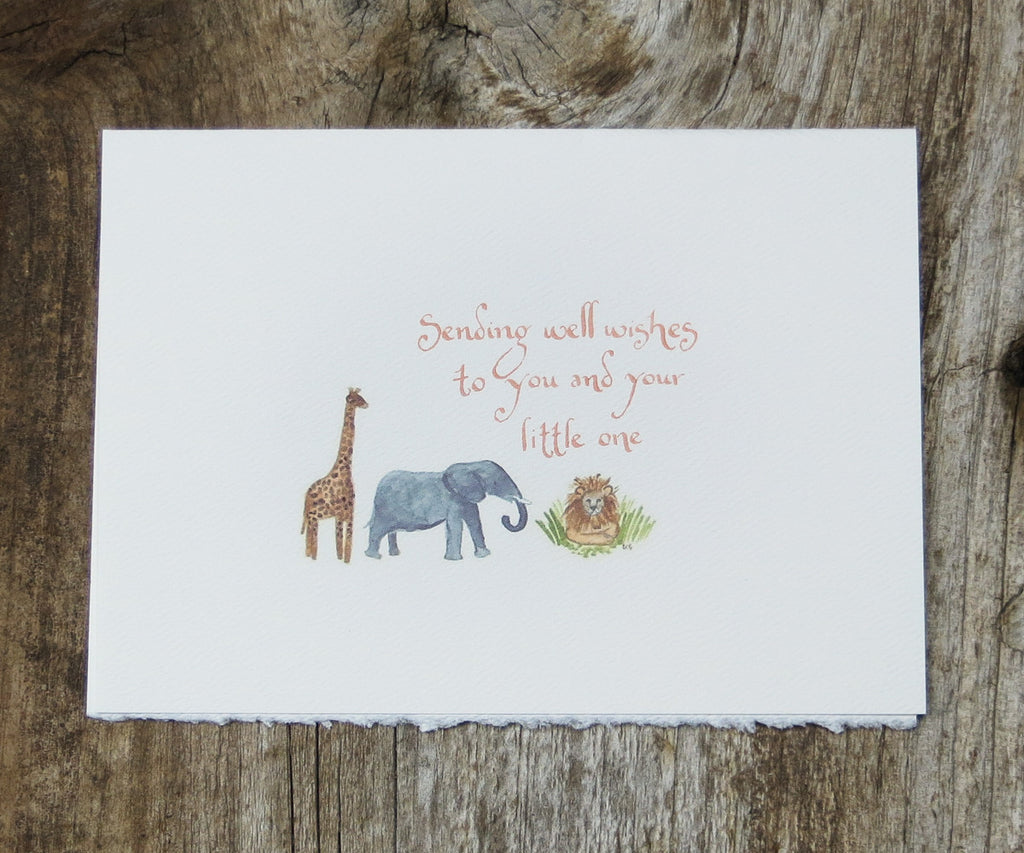 Jungle Animals New Baby Card