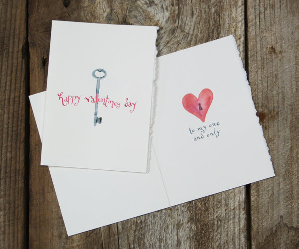Key To Heart Valentines Card