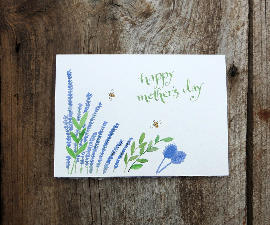 Lavender Garden Mother's Day Card