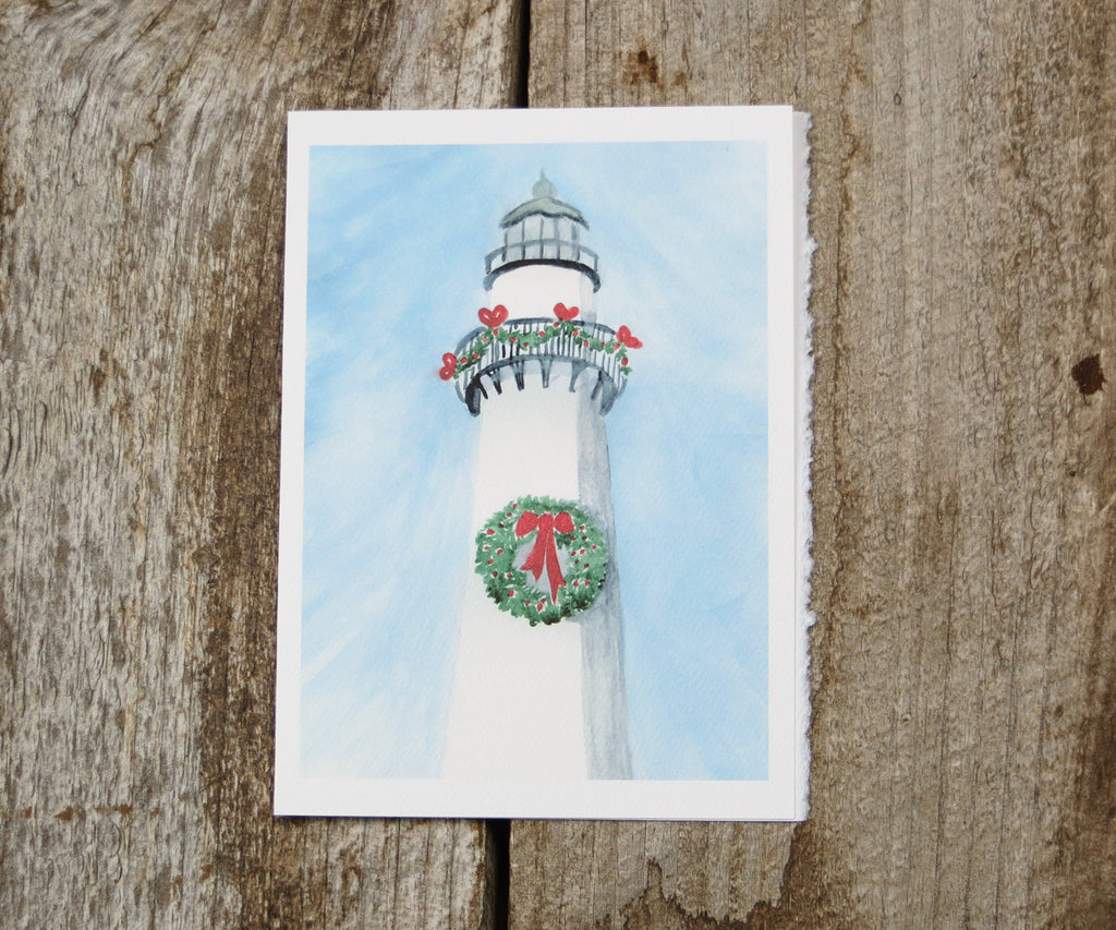 Lighthouse with Wreath