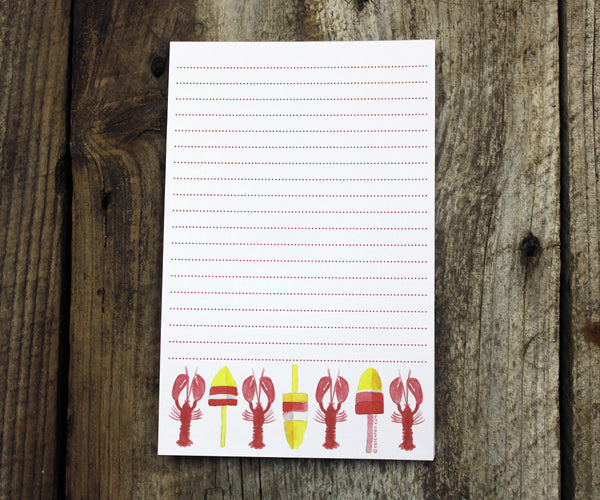 Lobsters & Buoys Notepad