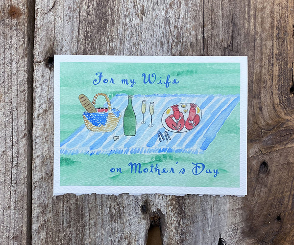 lobster picnic mother's day card