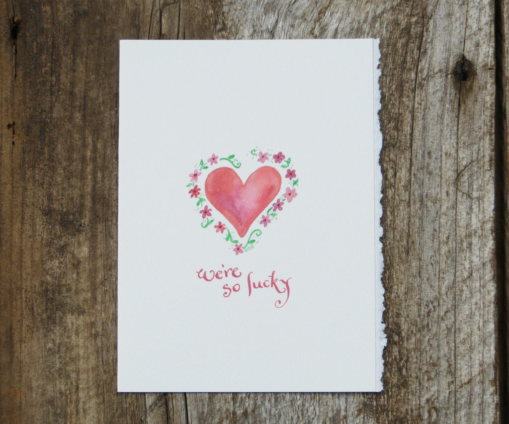 Lucky Heart Valentines Card