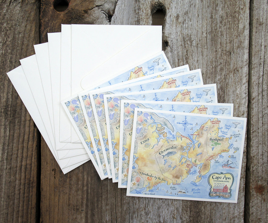 Cape Ann, Massachusetts note cards