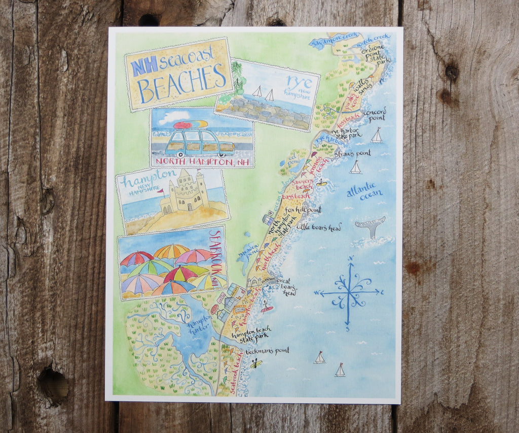 New Hampshire Beaches map