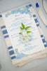 hydrangea wedding menu