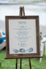 mussel shell wedding menu