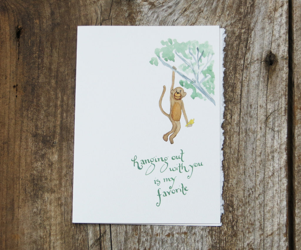 Monkey Valentines Card
