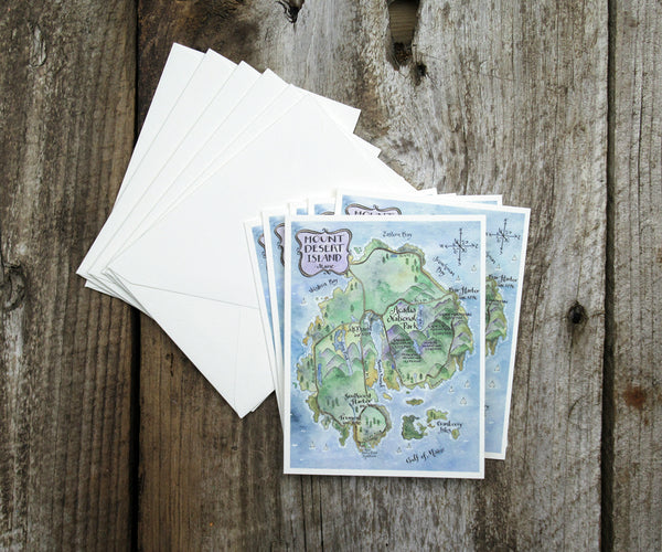 Mt. Desert Island Note Cards