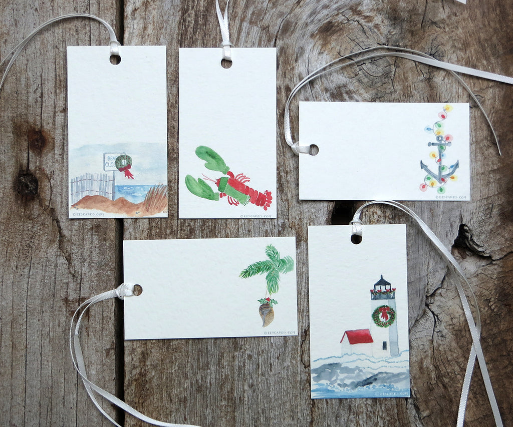 Nautical Holiday Gift Tags
