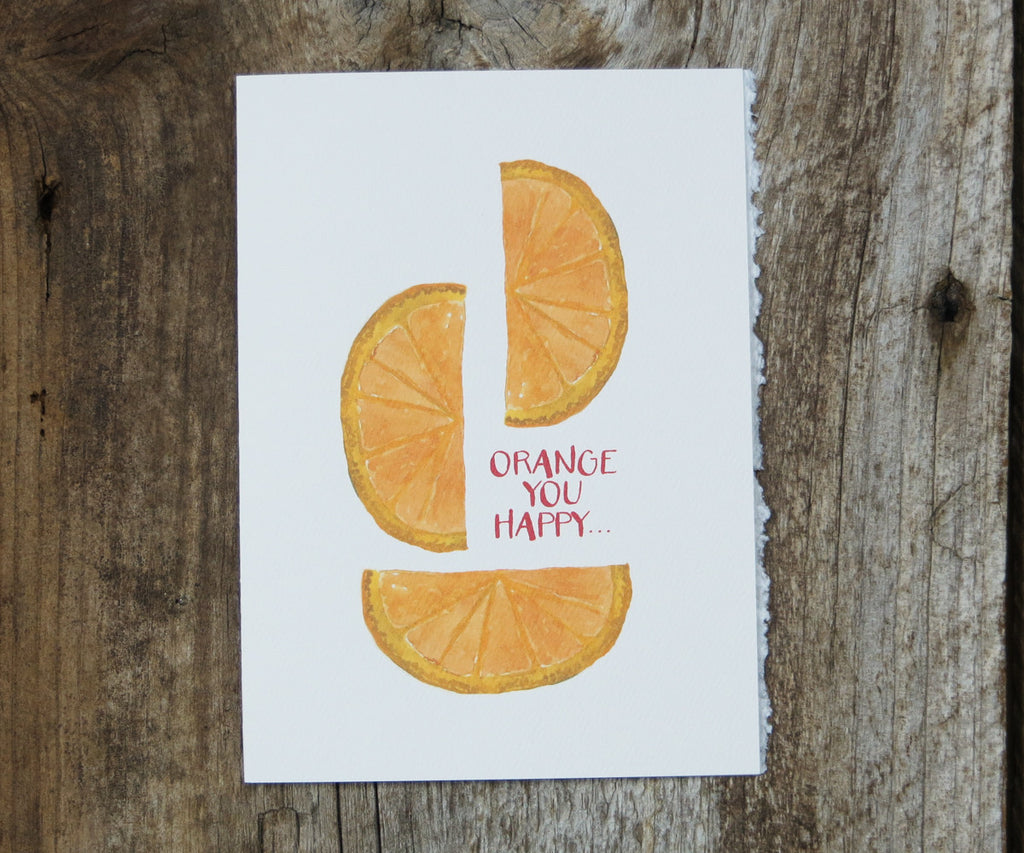 Orange Valentines Card