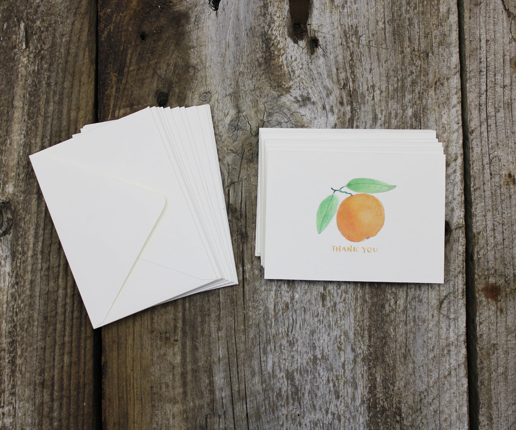 Oranges thank you note