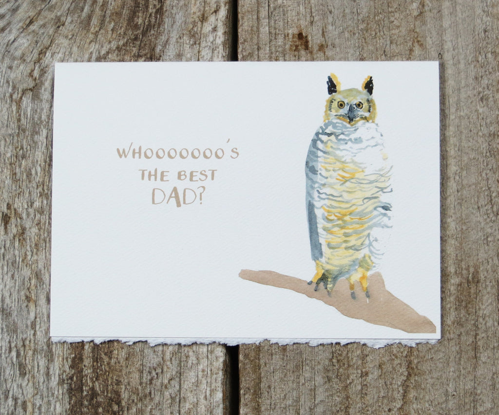 owl father's day card