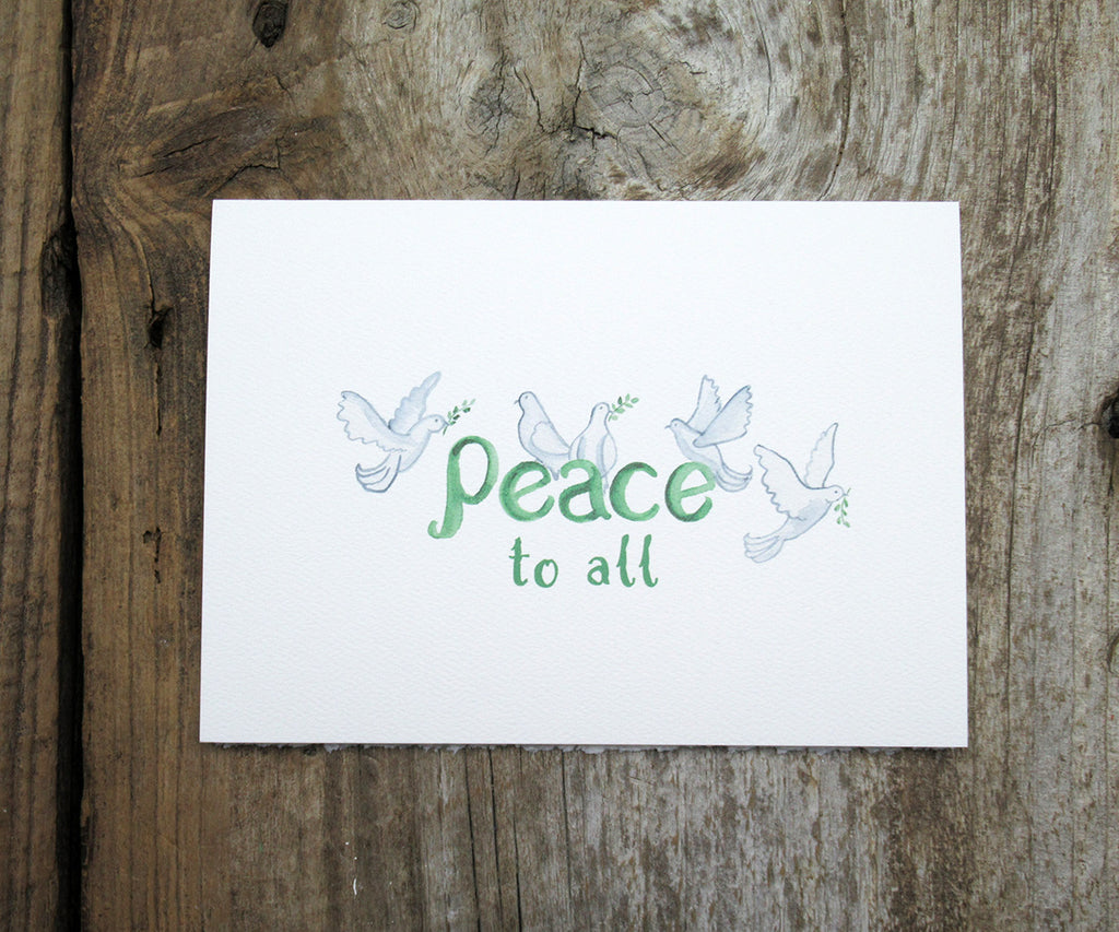2018-Peace Doves Holiday Card