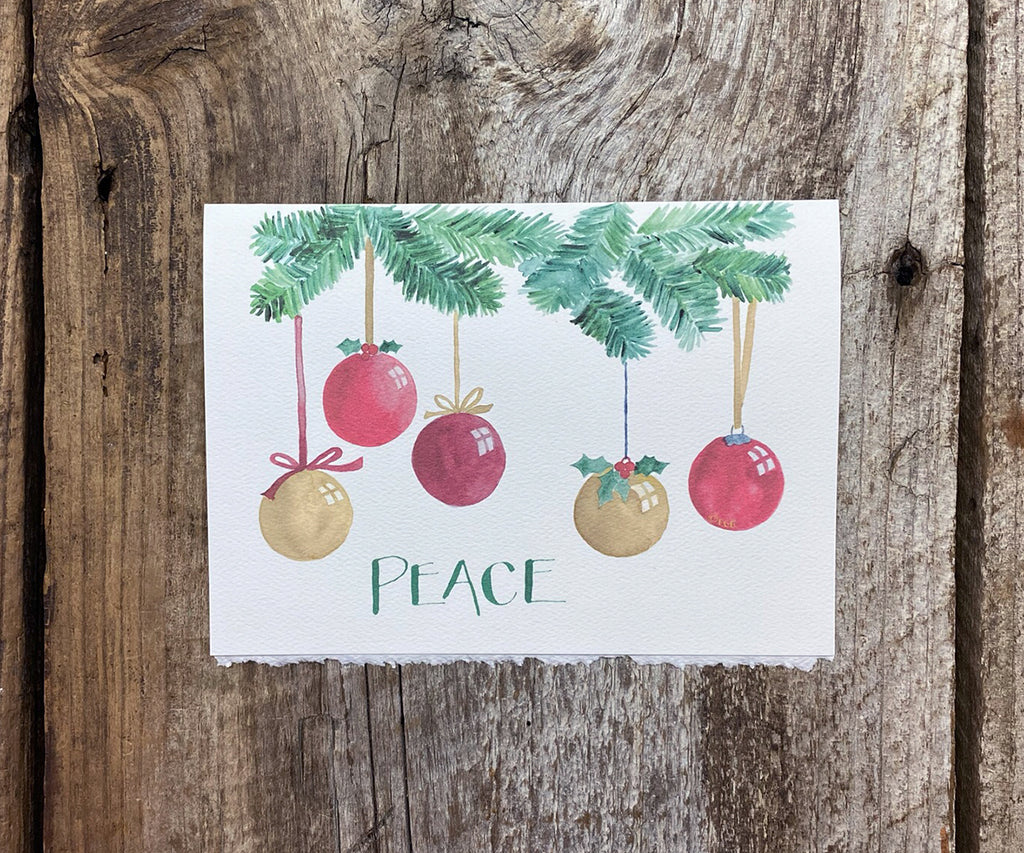 Peace Ornaments Holiday Card