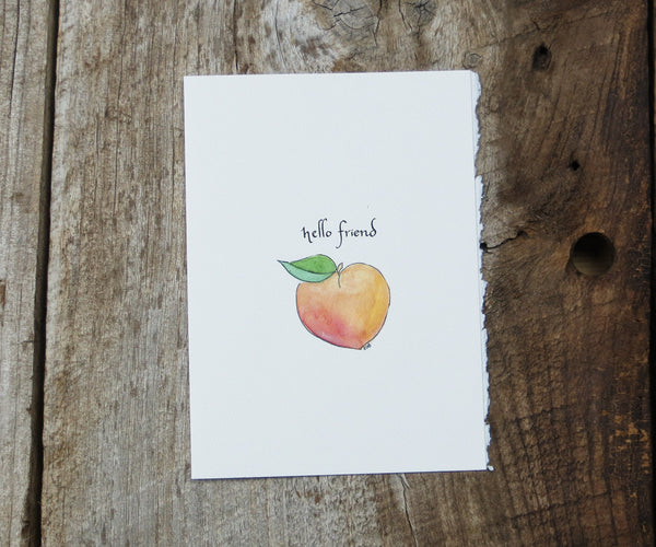 Peach Friendship & Love Card