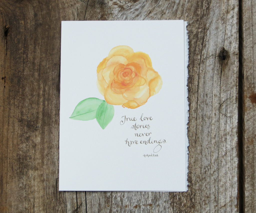 Peach Rose Valentines Card