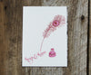 Pen & Ink Valentines Card