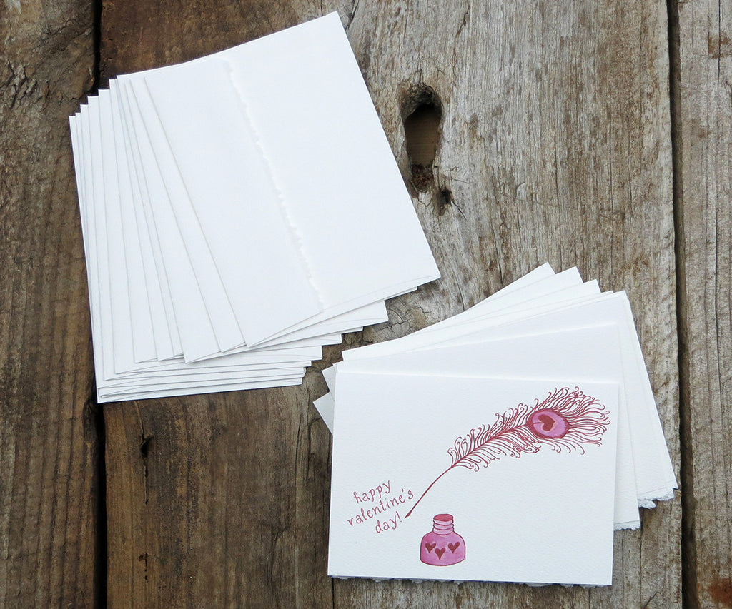 Pen and Ink Valentine Notes
