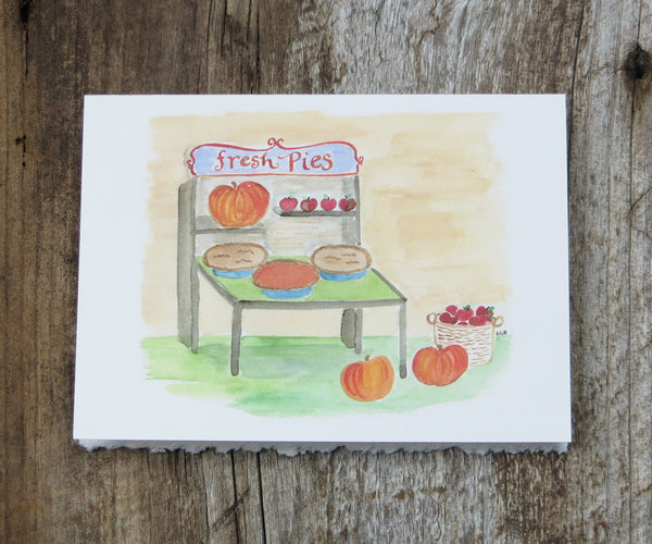 pie stand thanksgiving card