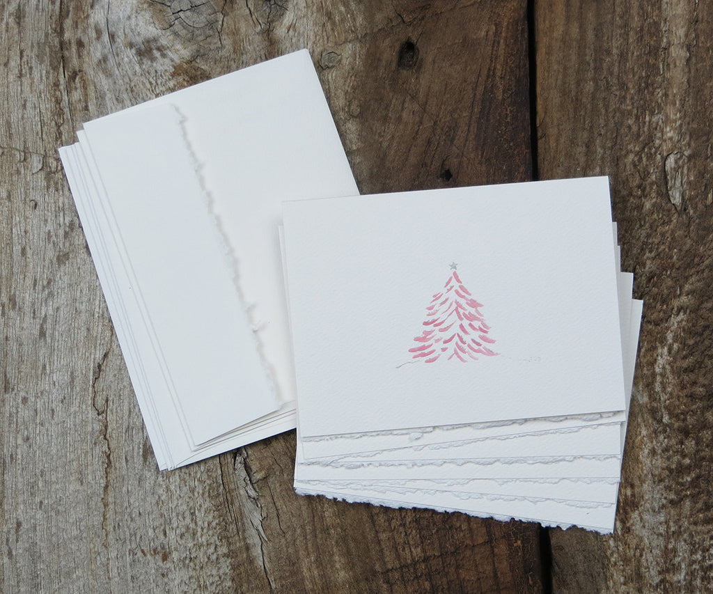 Pink Tree Holiday Notes