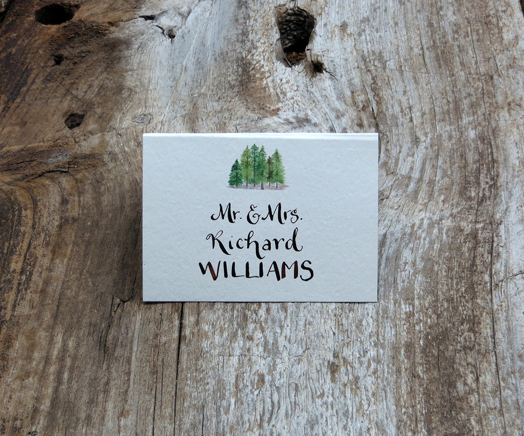 Forest Pines Escort/Place Card