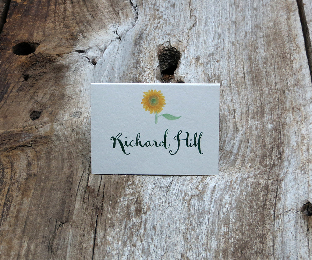 Rustic Sunflower Escort/Place Card