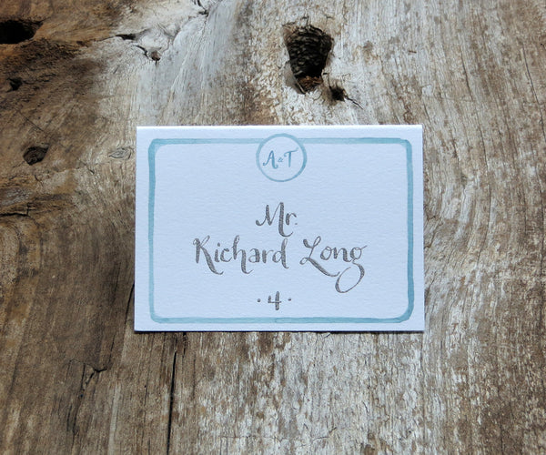 Watercolor Border Escort/Place Card