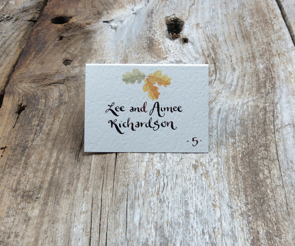Yellow Autumn Trees Escort/Place Card