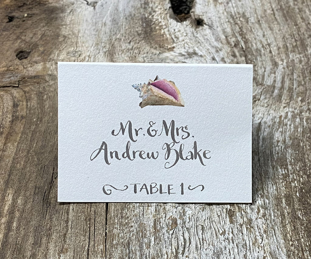 Conch Shell Escort/Place Card