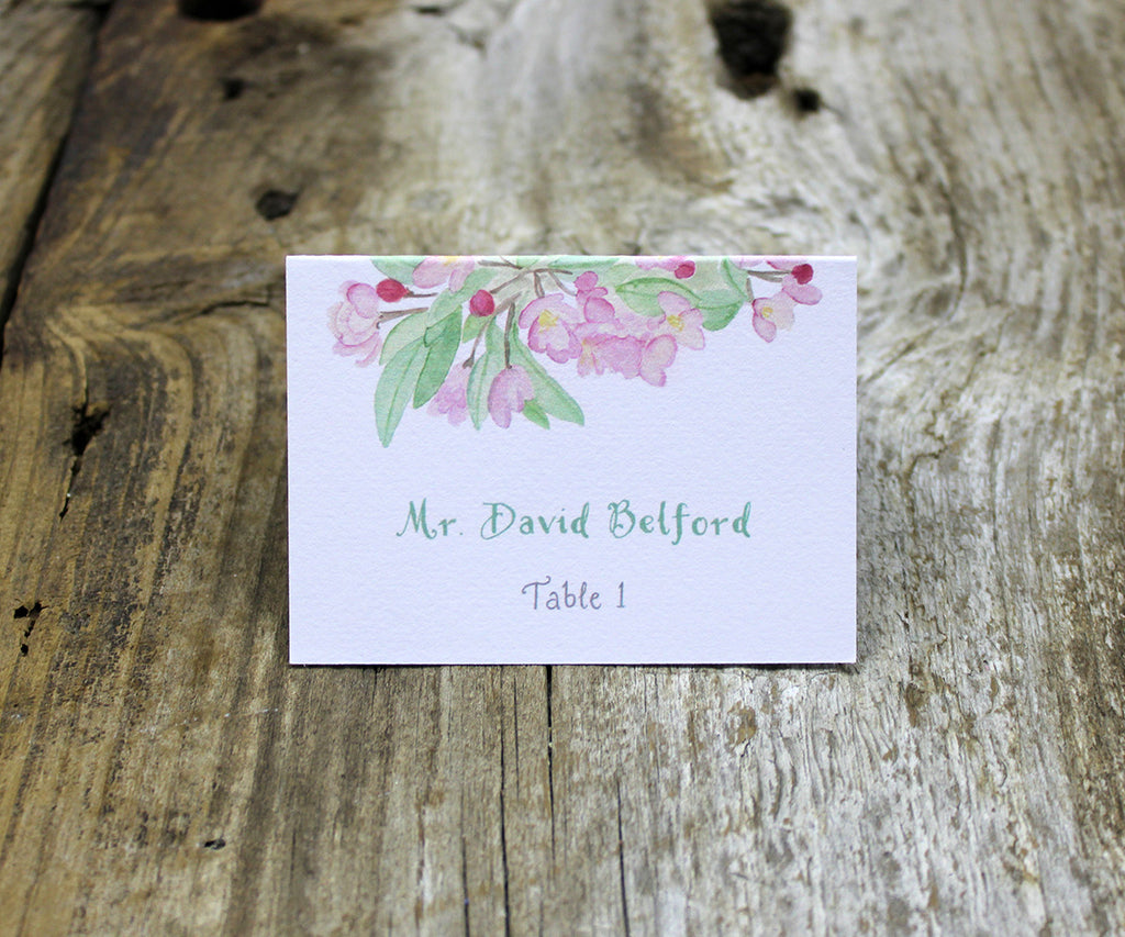 Apple Blossoms Escort/Place Card