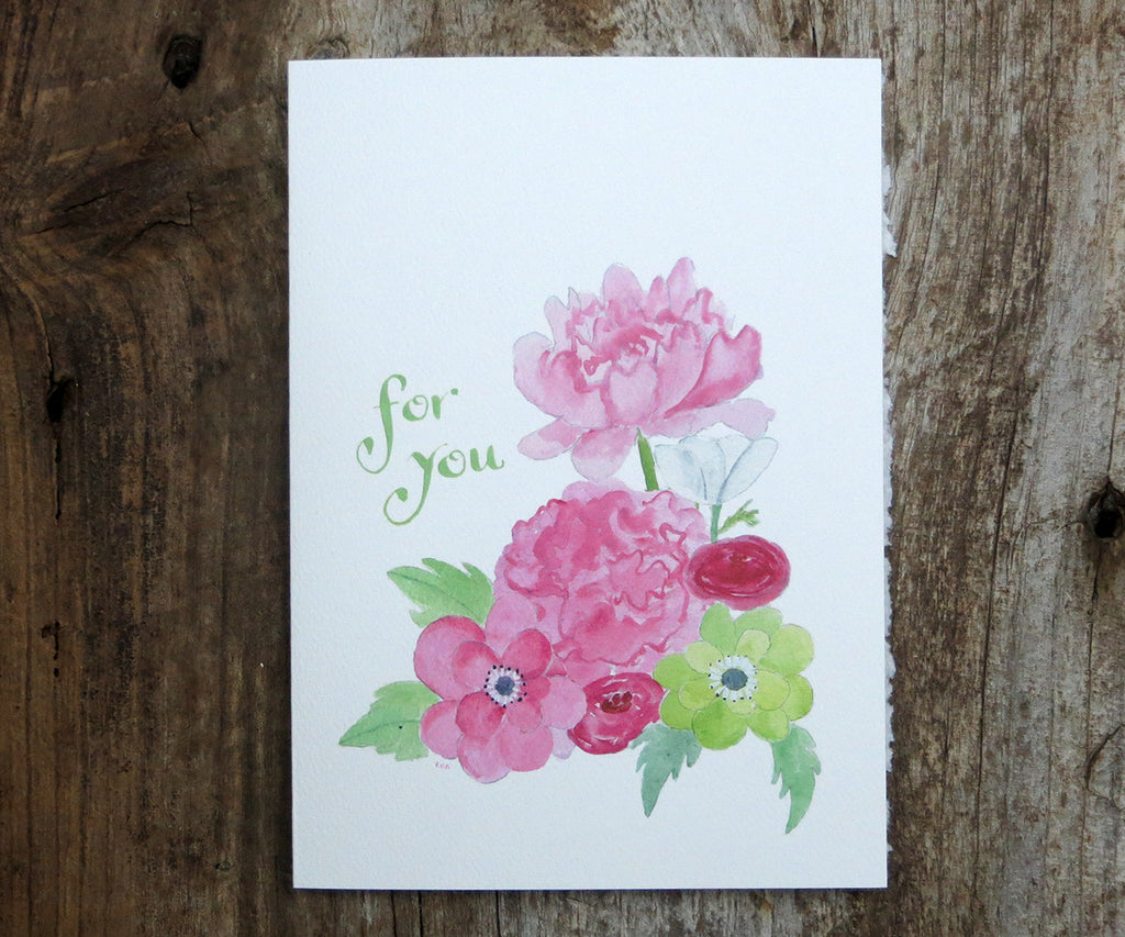Prettiest Pink Flowers Card