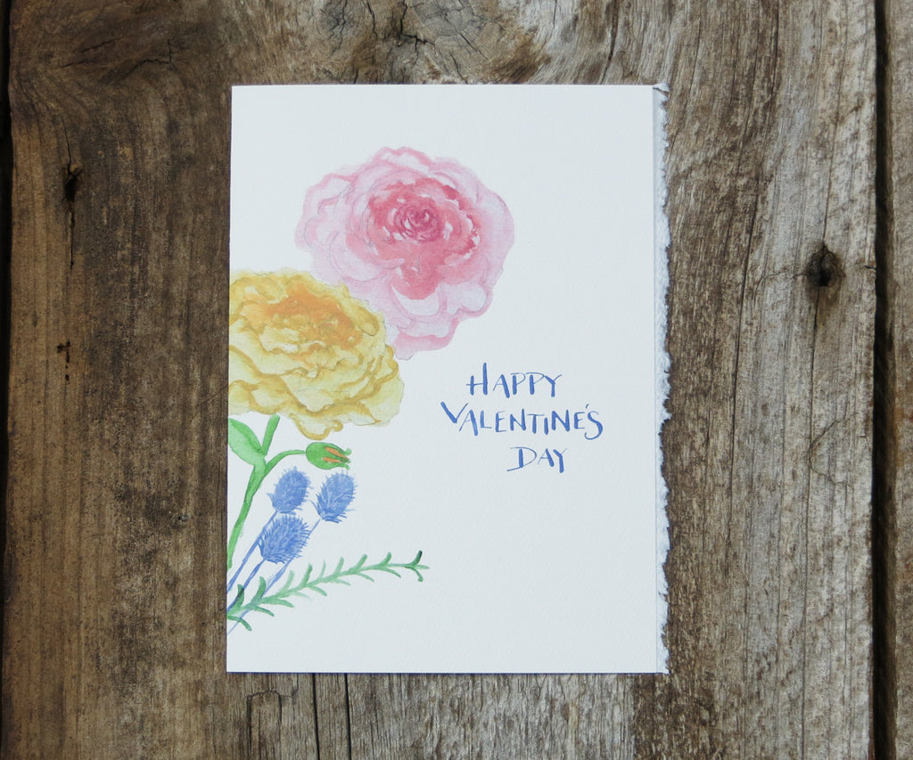 Pretty Flowers Valentines Card