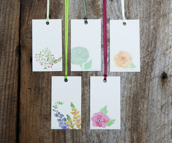 Pretty Flowers Gift Tags